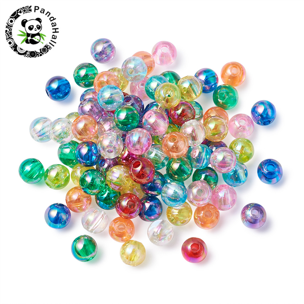 200 Assorted Sizes 4 mm 6 mm 8 mm 10 mm Glass Pearl Beads Powder Rose