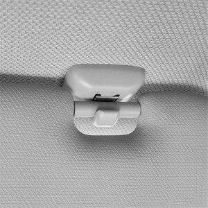 Image 3 - 2Pcs Interior Gray Sun Visor Clip Holder Hook Bracket Hanger For Audi A1 A3 A4 A5 Q3 Q5 S3 S4 S5 TT Allroad 8U0857562A Grey