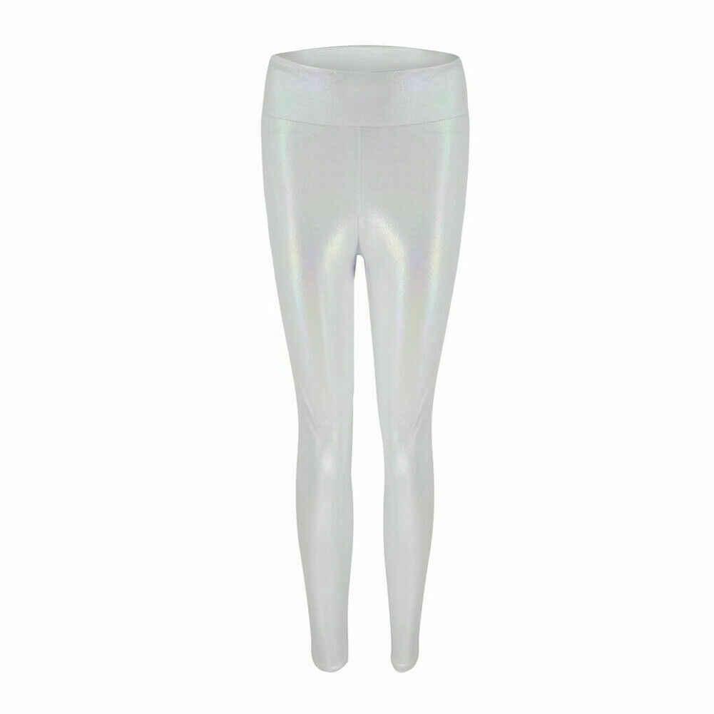 Zwart Lederen Leggings Skinny Potlood Broek Vrouwen Hoge Taille Stretch Slim Fashion Blauw Wit PU Lederen Broek