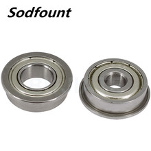 1pcs Flange with side ribs and thin-walled ordinary motor-grade small bearings F6801-2Z ZZ inner diameter 12*21*23*5*1