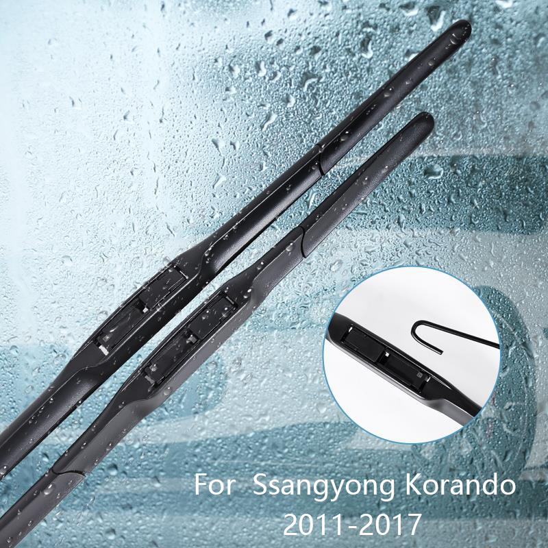 Wipers Blade For Ssangyong Korando 2011 2012 2013 2014 2015 2016 2017 Car Accessories For Auto Rubber Windscreen Wiper image