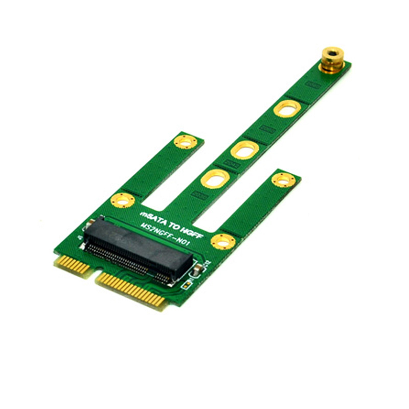 <font><b>mSATA</b></font> to M.2 NGFF <font><b>Adapters</b></font> Convert Card 6.0Gb/s NGFF M.2 <font><b>SATA</b></font>-Bus SSD B Key to <font><b>mSATA</b></font> Male Riser M.2 <font><b>Adapter</b></font> for 2230-2280 M2 SSD image