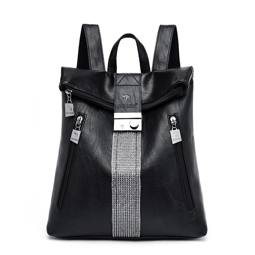 Women's Backpack Genuine Leather Shoulder Bag Large Capacity  Backpacks Fashion School Bag For Teenage Girls Travel Backpack