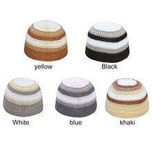 Молитвенная Кепка, модная мужская маска для лица, кепка, красивая мусульманская Этническая одежда Keffiyeh, кепка, исламский головной платок, для улицы