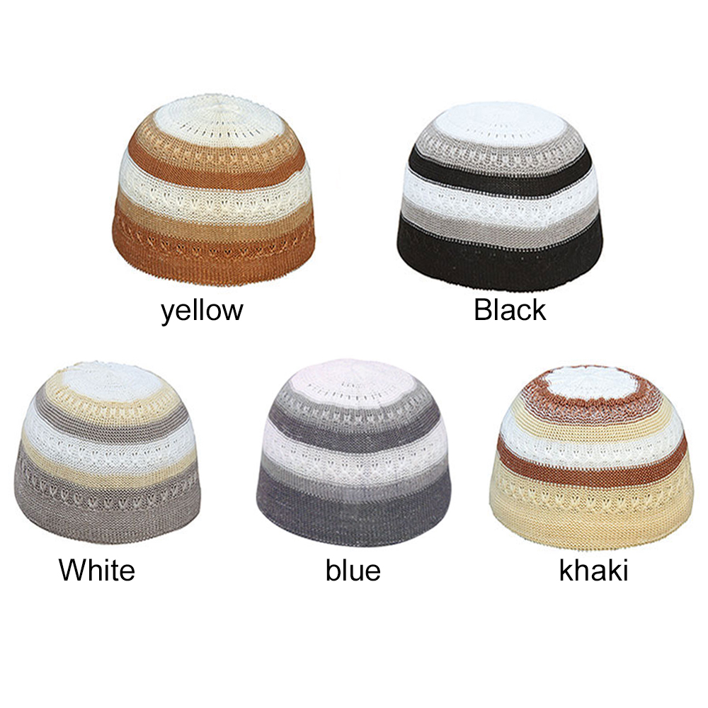 Prayer Cap Fashion Men'S Face Cover Mask Cap Handsome Muslim Ethnic Clothing Keffiyeh Cap Islamic Headscarf Outdoor