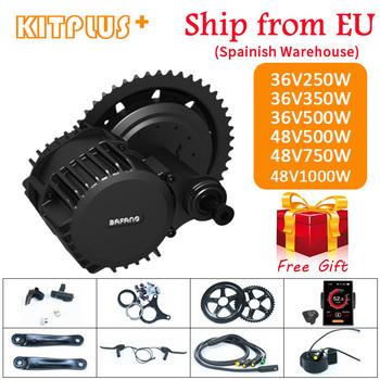 Bafang BBS01 BBS02 BBS03 BBSHD silnik typu middrive 36V 250W 350W 500W 48V 500W 750W 1000W elektryczny rower rower zestaw do zamiany na rower elektryczny tanie i dobre opinie Bezszczotkowy 36V 48V 400 w Boku wisiał silnik 36V250W 350W 500W 48V500W 750W 1000W Ebike conversion kit e-bike motor bicycle kit
