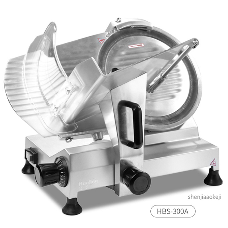 HBS-300A Semi-automatic Meat Slicer 12-inch Commercial Meat Cutter Electric Cutting Machine For Frozen Meat/mutton Roll/beef Ect