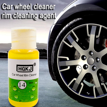 20ML HGKJ14 Car Wheel Ring Cleaner High Concentrate Detergent Tire Car Wheel Ring Cleaner Window Glass Cleaning Auto Remove Rust image
