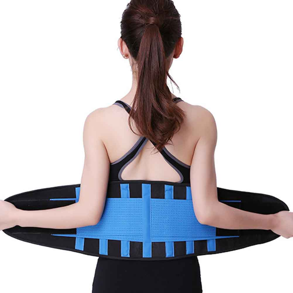 Women Men Sweat Wrap Slimming Muscle Compression Waist Trimmer Body Shaper Weight Loss Easy Wear Adjustable Training Back Gym