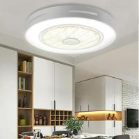 Modern 72w Trendy LED Ceiling fans lights with 3 colors Lighting&3 gear wind speed fan light with remote control AC185 250V