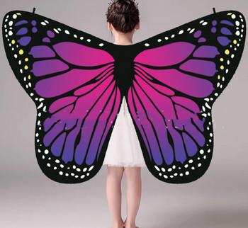 Hurtownie różowe skrzydła Monarch kostium dla dzieci kobiety skrzydła motyla szal Cape szalik anioł Isis skrzydła tanie gorący bubel tanie i dobre opinie Ndrahi Dziewczyny W-1909 Taniec brzucha Poliester