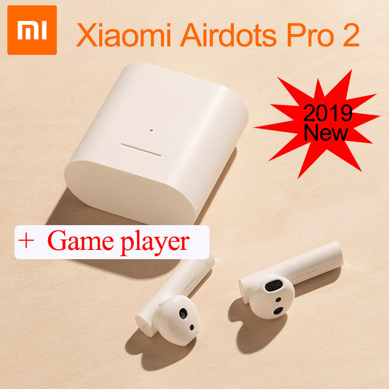 Xiaomi Airdots Pro 2 Air2 Earphone TWSEJ02JY 2019 NEWest TWS Bluetooth 5.0 Earbud Tiny Headset + Charging Case For Sport Gym Boy