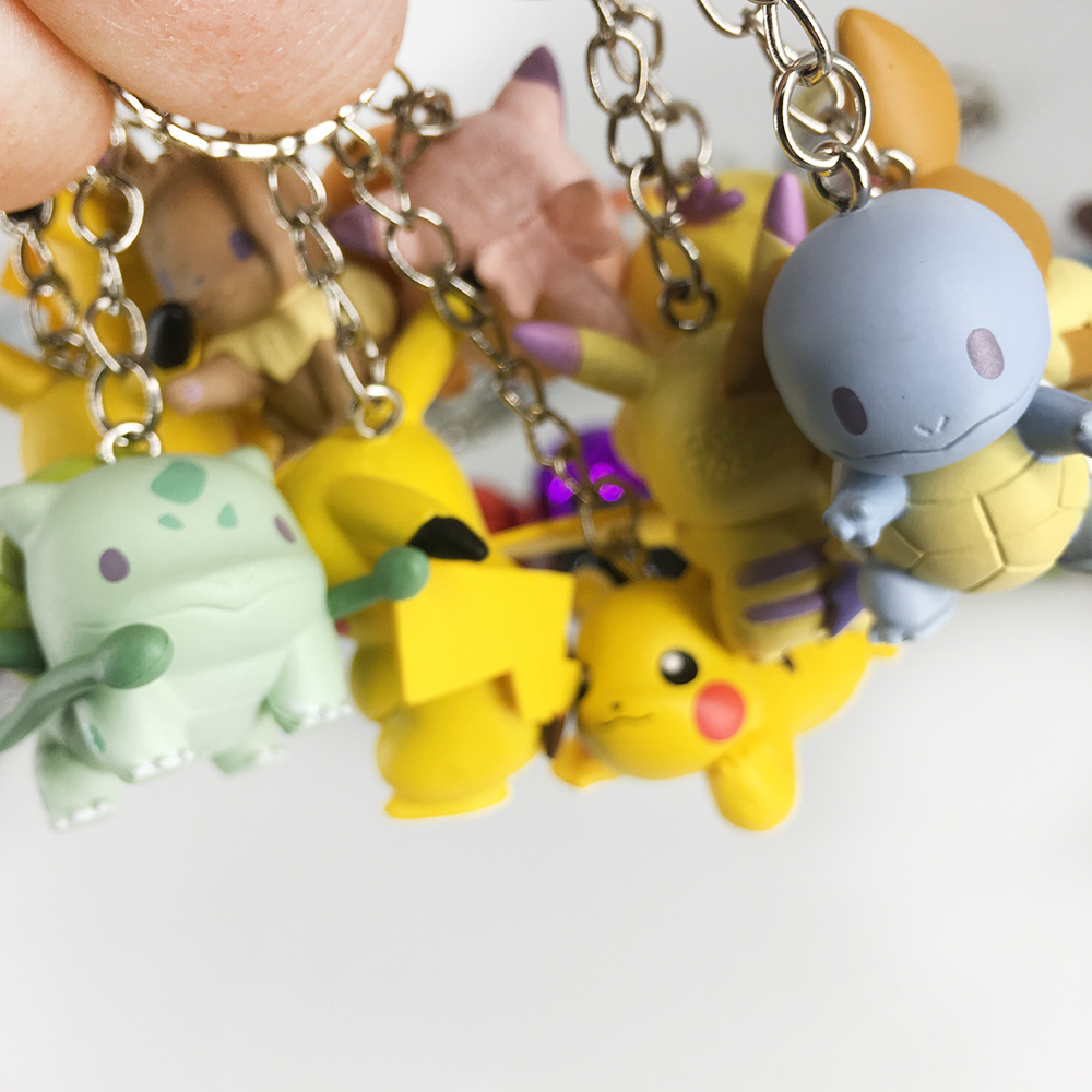DIY Pokemon Keychain Pikachu Action Figure Pokemon Elf Series Children Toy Christmas Gifts 3
