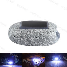 Vogliovoi Solar Garden Lights Stones LED Rock Pebbles Light Cool White Resin Waterproof For Outdoor Path Driveway Walkway(China)
