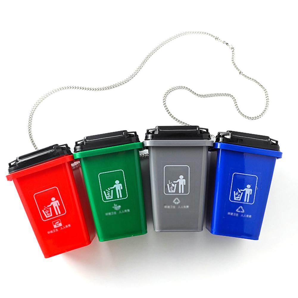 Crossbody-Bags Trash-Can Women Handbag Funny Messenger Fashion Chains for Garbage-Sorting