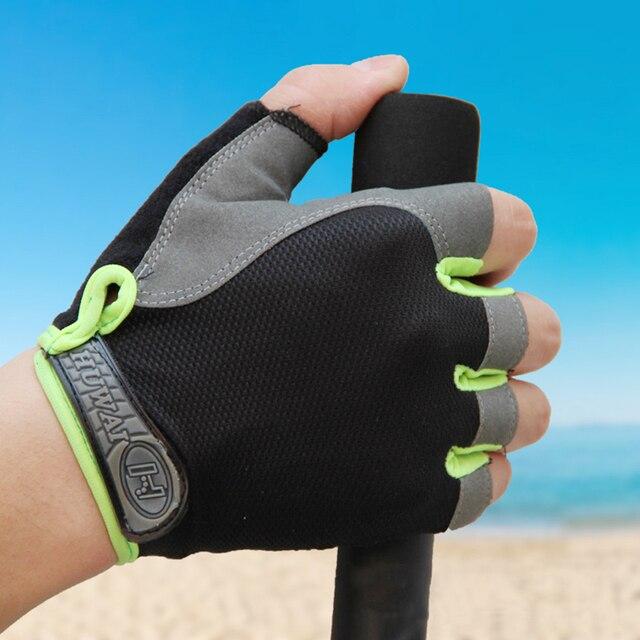 2 pçs luvas de ciclismo anti-derrapante anti-suor masculino feminino metade do dedo luvas respirável anti-choque luvas esportivas mtb bicicleta luva 4