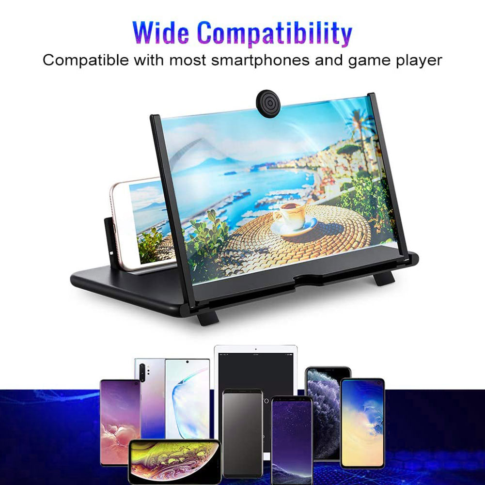 12 Inch 3D Phone Screen Magnifie HD Video Amplifier Folding Stand 3d Movies Phone Screen Magnifier Universal For All Smart Phone