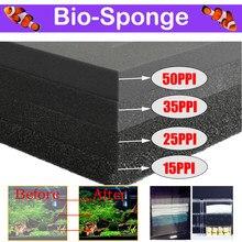 Aquarium Accessories Biochemical Cotton 15 25 35 50PPI Filter Practical Fish Tank Pond Foam Sponge Filter Black Multiple Size