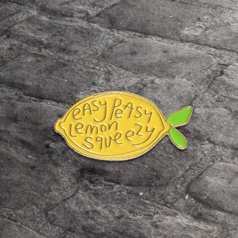 Limone-fresco-Spille-Spilla-In-Metallo-Giallo-Frutta-Smalto-Spilli-Pulsante-di-Modo-Distintivo-Spilla-per