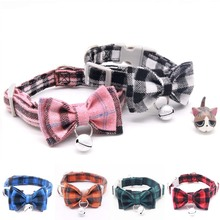 Kitten Collar with Bell bow  Breakaway Adjustable Cats Collar Puppy Collar Pet Supplies Collier for Kittens 1PC