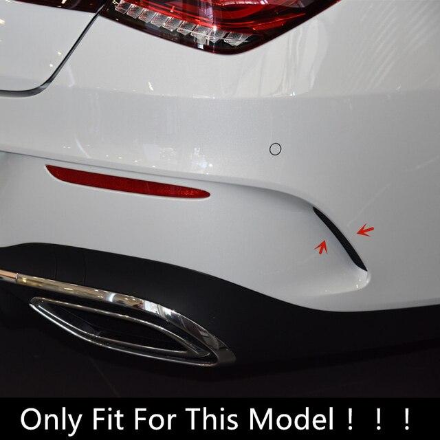 Car Styling Rear Bumper Grille Slats Spoiler Flap Wing Decoration Cover Trim Exterior For Mercedes Benz CLA C118 CLA200/220 2020 2
