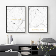 Posters And Prints Marble Letter Cuadros Decoracion Black White Poster Nordic Abstract Canvas Painting Art Unframed