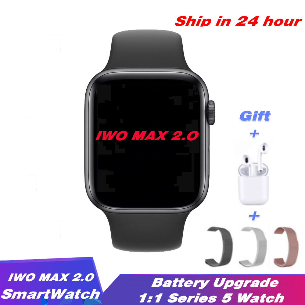 IWO Max 2.0 Smartwatch Bluetooth Call Strap Change Series 5 Smart Watch Heart Rate Sport Band For Android IOS PK IWO 8 12 IWO 13