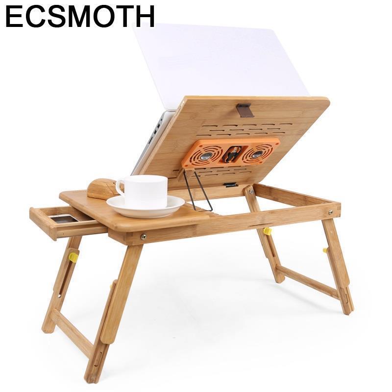 Office Escritorio Mesa Notebook Support Ordinateur Portable Pliante Bamboo Bedside Tablo Laptop Computer Desk Study Table