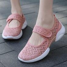 Women Shoes Breathable Sneakers Sport Brand Mesh Outdoor Lightweight Summer Velcro