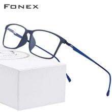 Montura de aleación para gafas de hombre FONEX TR90, marcos para Anteojos de Prescripción, gafas ópticas 2019 coreanas sin tornillos 9855