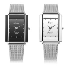 Women simple rectangle Quartz Wrist watch Clock Ladies Dress Gift Watches orolog
