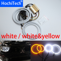 White & yellow Cotton LED Angel eyes kit halo ring Turn signal light for Mitsubishi Challenger Montero Sport 2008 2016