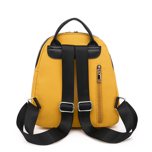 Image 5 - Toposhine Small Oxford Women Backpack Soft Quality Yellow Black Backpack Korea Multi function Shopping Girl Backpack For Lady