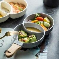 MUZITY керамическая тарелка для закусок специальный дизайн круглая тарелка для десерта с ручкой посуда