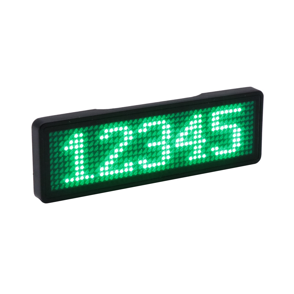 Multi-langauge Programmable LED Name Badge Rechargeable Mini LED Display USB LED Name Tag Sign Backpack LED Sign Text Digit Sign