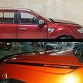 Наклейка для автомобиля  2 шт.  крутой капот  градиент  боковая полоса  графический виниловый стикер для автомобиля  подходит для Ford ranger EVEREST