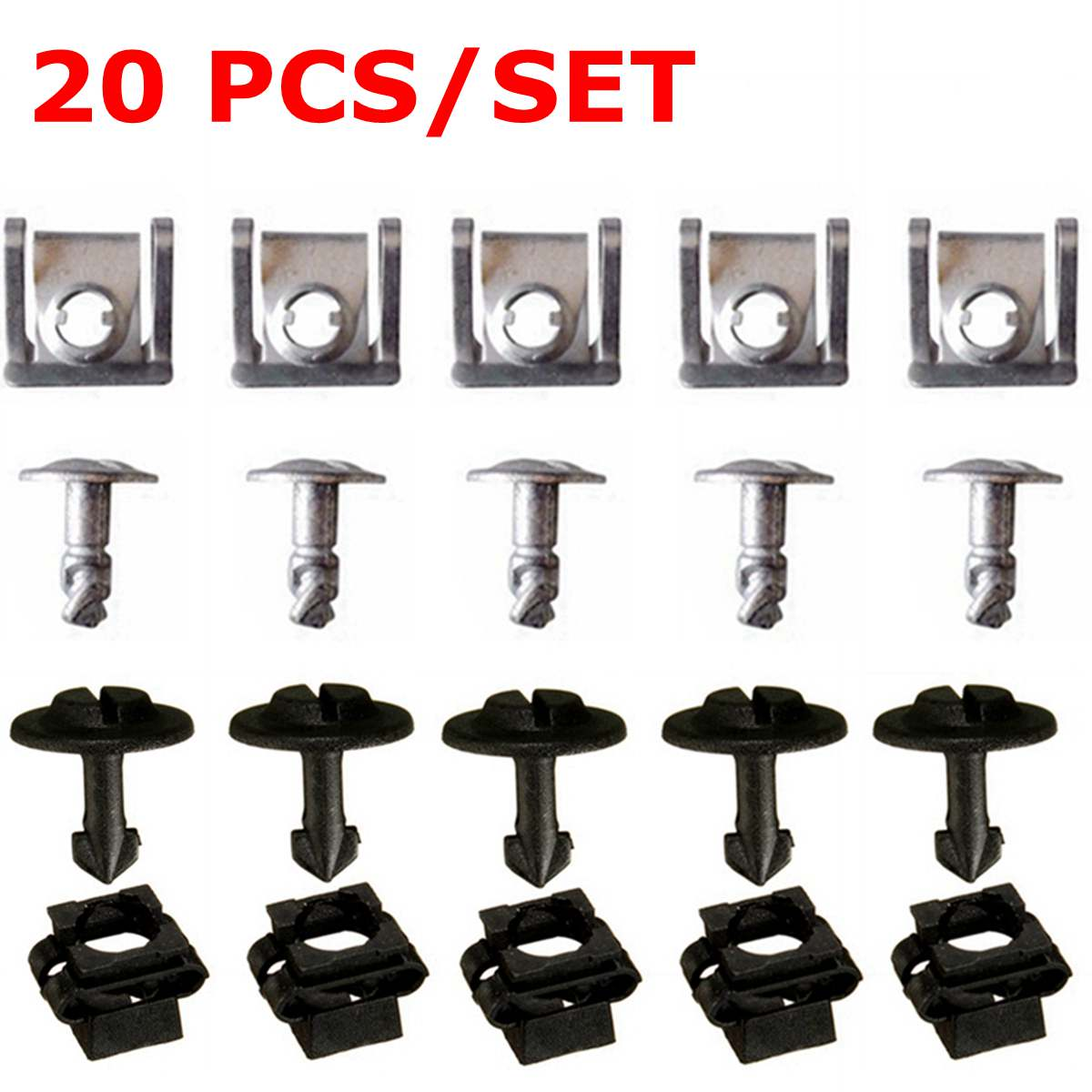 20 pçs/set Sob Parafusos Da Tampa Do Motor & Clipes Set para VW Passat para B5 para Modelos Audi A4 A6 8D0805960 8D0805121