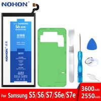 NOHON Bateria Original Para Samsung Galaxy S5 S6 S7 S6 Borda Borda S7 G900S SM-G9200 SM-G9280 SM-G9300 SM-G9350 Substituição da Bateria