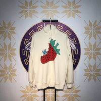 Strawberry Printed Women Men Hoodies Sweatshirts Hiphop Streetwera Men Cotton Hoodies Pullover