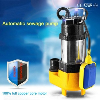 Submersible Sewage Pump 220V 0.25HP V180F Stainless Steel Non-blocking Water Pump Well Alternative Pumping Drainage Sewage Pump cutting sewage pump 380v three phase household small sewage pump mud pump submersible pump 220v