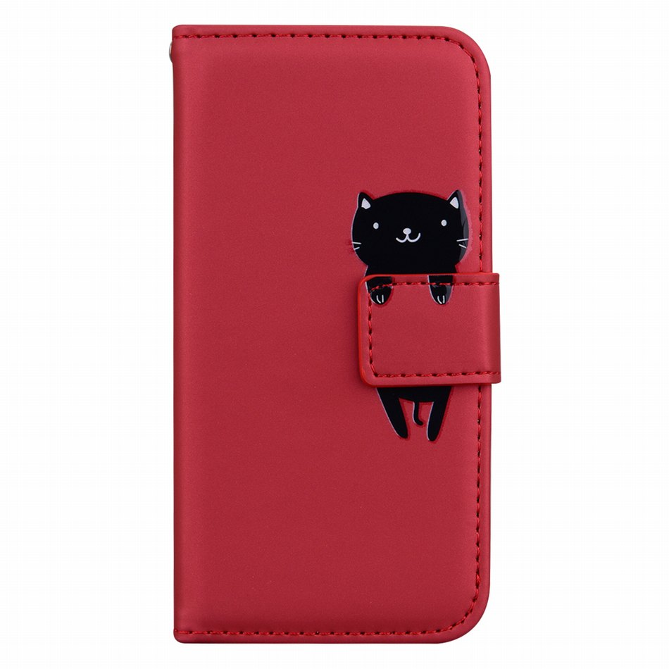 Samsung Leather Cat Themed Phone Wallet