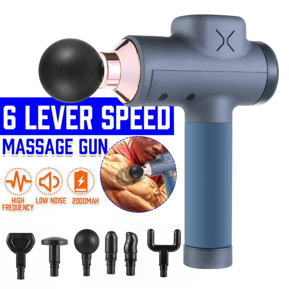 3200 R/min Electric Muscle Massage Gun Deep Tissue Massager Therapy Gun Exercising Muscle Pain Relief Body Shaping Dropship