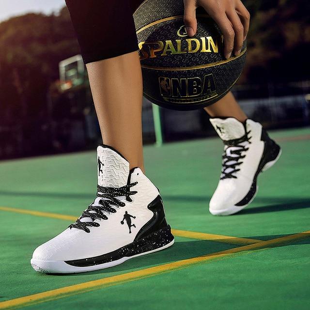 Man High-top Jordan Basketball Shoes Men Cushioning Light Basketball Sneakers Anti-skid Breathable Outdoor sneaker Jordan Shoes 4