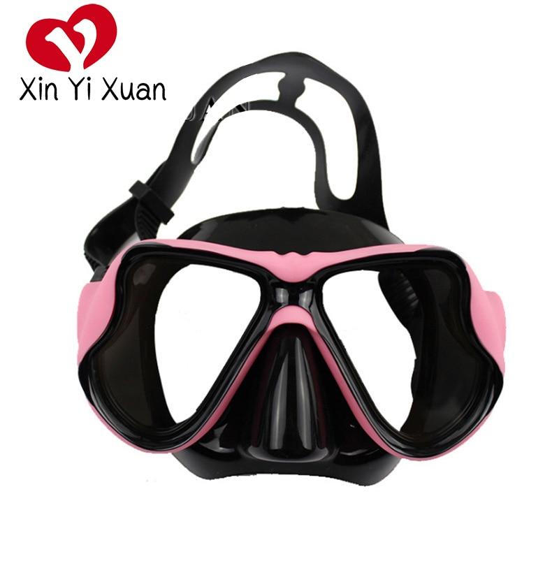 Бесплатная Подводная маска для подводного плавания, противотуманные, подводное плавание, очки для подводной охоты, оборудование для