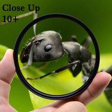 KnightX Makro yakın çekim 10 + Lens Filtre Canon eos Sony Nikon d600 200d aksesuarları 60d 18 200 400d 49 52 55 58 62 67 72 77 mm