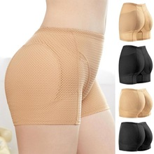 Hip enhancer elevador bumbum shaper estofamento calcinha push up bottom boyshorts feminino sexy shapewear hip-lift sem costura calcinha quente