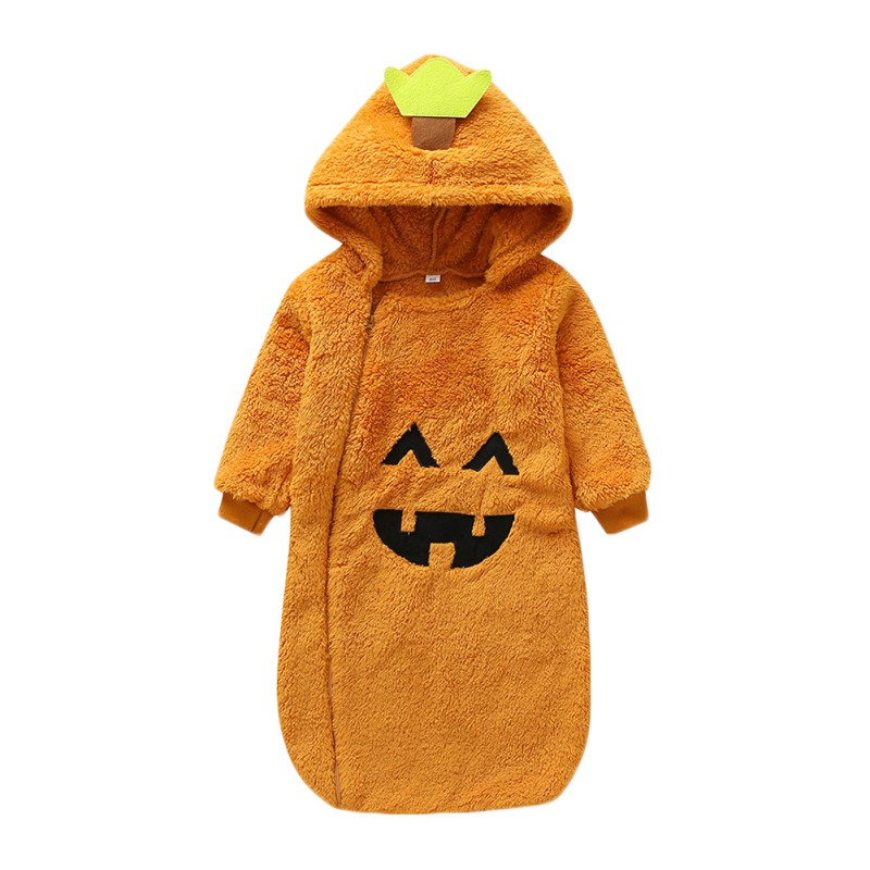 New Arrival Sleeping Bags Cartoon Long Sleeve Girls And Boys Baby Halloween Pumpkin