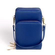 Puimentiua Fashion PU Leather Women Mobile Phone Bags Crossbody Cute Cartoon Handbag Female Multi-function Shoulder