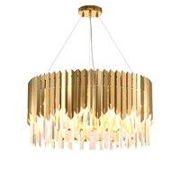 LED Moderne Oval Runde Kristall Edelstahl Gold Anhänger Lichter. Anhänger licht Suspension Leuchte Lampen Für Esszimmer