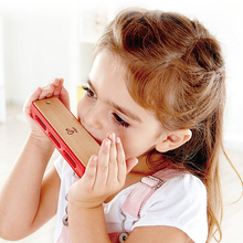 Hape Harmonica Colorful Wooden Blues Safe Music Instruments